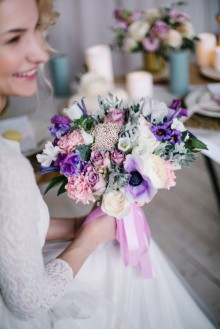 Цветочное ателье КОRА. Фото свадебного букета. Букет невесты.